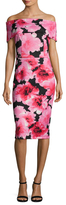 Alexia Admor Off Shoulder Floral Print Sheath Dress