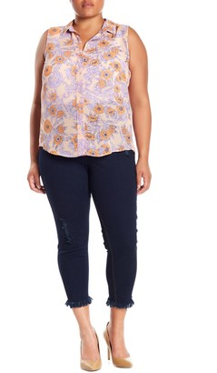 Hue High Waisted Front Lace-Up Jeggings (Plus Size)