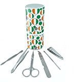 Manicure Pedicure Grooming Beauty Personal Care Travel Kit (Tweezers,Nail File,Nail Clipper,Scissors) - Country National Flag A-C Cote d'Ivoire Ivory Coast National Country Flag