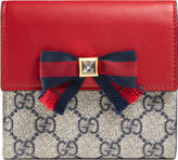 Gucci Grosgrain GG Supreme french flap wallet