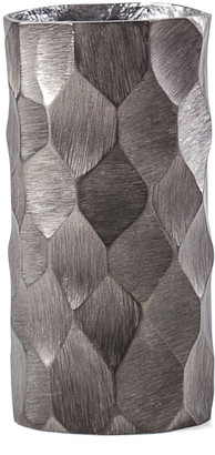 Torre & Tagus Linus Chiseled Brushed Cylinder 8.5In Vase Small