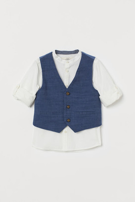 H&M 2-piece Cotton Set - White