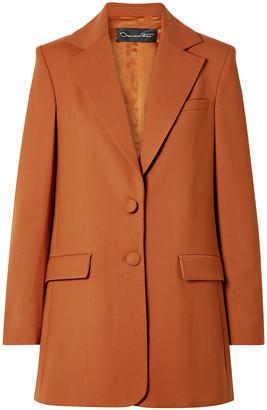 Oscar de la Renta Oversized Wool-blend Twill Blazer