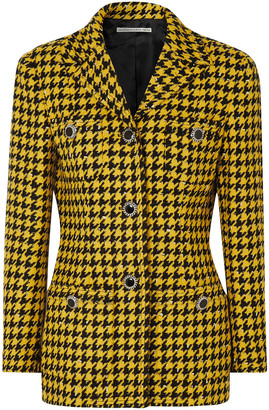 Alessandra Rich Houndstooth Wool-blend Tweed Jacket