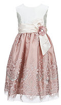 Jayne Copeland Little Girls 2T-6X Embroidery Overlay Sleeveless Dress