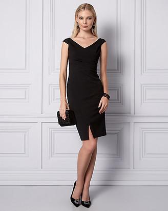 Le Château Knit Crepe Off-the-Shoulder Dress