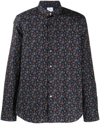 Paul Smith Long-Sleeved Floral-Print Shirt