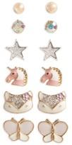 Capelli of New York Girl's 6-Pack Earrings