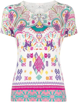 Etro Patterned Shortsleeved Knitted Top