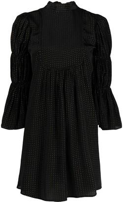 By Ti Mo Golden Dots shift dress
