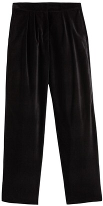 Vanessa Seward X La Redoute Collections Corduroy Wide Leg Trousers, Length 28""