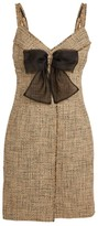 Sandro Paris Tweed Bow Detail Dress