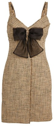 Sandro Paris Tweed Bow-Detail Dress