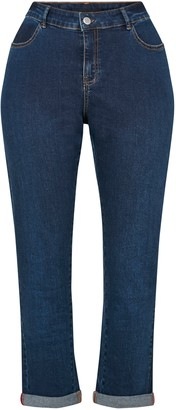 Evans Indigo Girlfriend Jeans