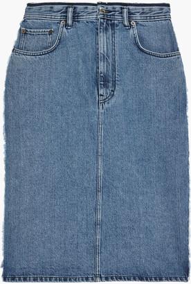 Acne Studios Ilyssia Frayed Denim Skirt