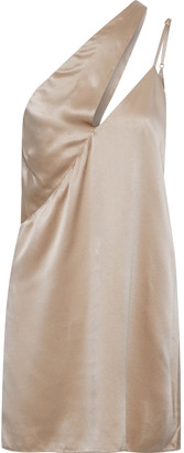Mason by Michelle Mason One-shoulder Cutout Silk-charmeuse Mini Dress