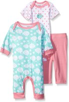 Gerber Baby Three Piece Coverall Bodysuit and Legging Set