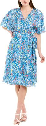 J.Mclaughlin Silk-Blend Wrap Dress