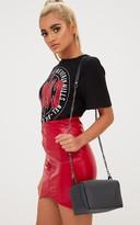 PrettyLittleThing Black Studded Shoulder Bag