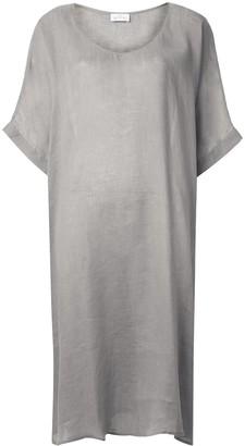 POUR LES FEMMES Long Linen Tunic Dress