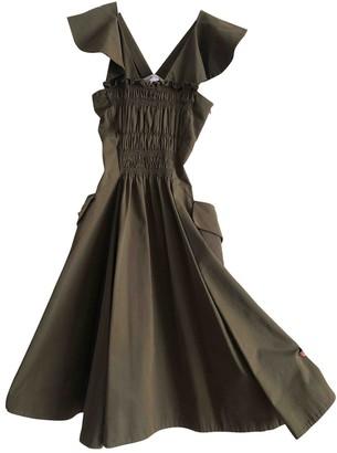 Carven Khaki Cotton Dresses