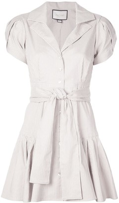 Alexis Haylee striped shirt dress