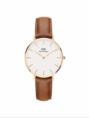 Daniel Wellington Petite Durham Rose Gold Watch 32mm Leather for Men and Women