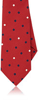 Isaia MEN'S POLKA DOT COTTON NECKTIE