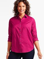 Talbots The Perfect Long-Sleeve Shirt-Dot Foulard