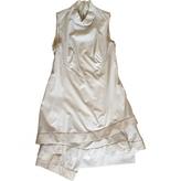 Celine Ecru Wool Dress