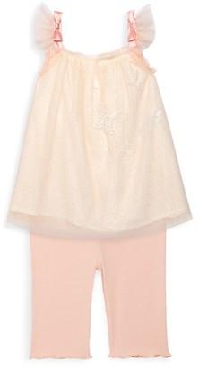 Miniclasix Baby Girl's Top Capri Legging 2-Piece Set