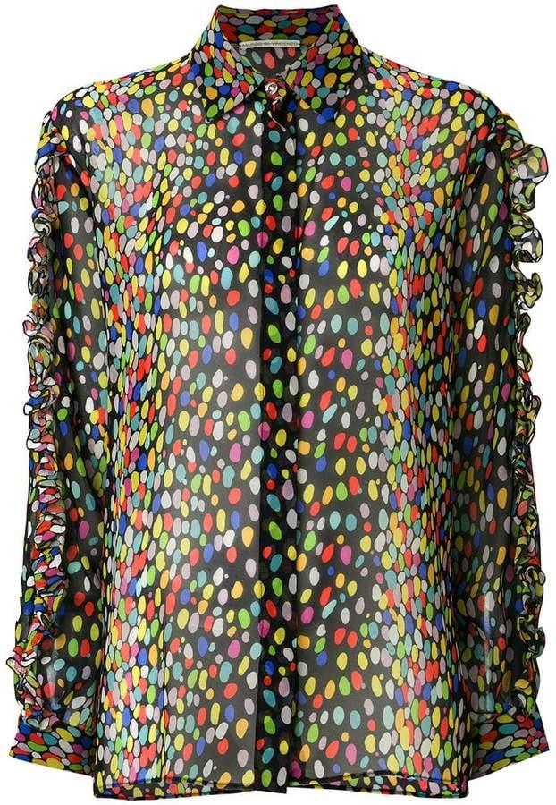 Marco De Vincenzo leopard ruffled shirt