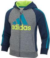 adidas Boys 2-7 Warm-Up Fleece Hoodie