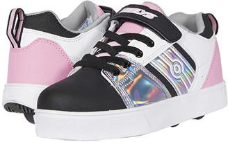 Heelys RacerX220 (Little Kid/Big Kid) (Black/Sliver/White/Light Pink) Girl's Shoes
