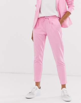 Ichi drawstring waist suit trousers-Pink