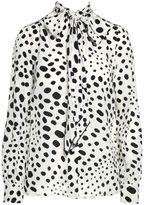 Marc Jacobs Spot Printed-silk Blouse