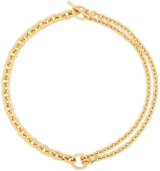 All Blues 18kt Gold double mix chain necklace