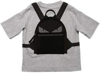 Fendi Printed Cotton Jersey T-shirt