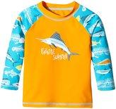 Hatley Fish & Bones Rash Guard (Toddler/Kid) - Orange - 4T