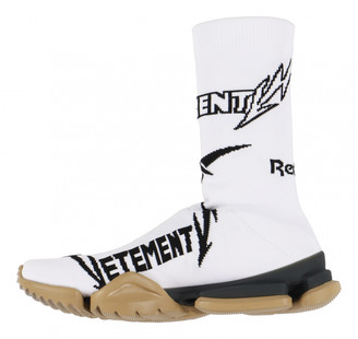 Vetements White Cloth Trainers