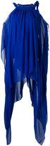 Alberta Ferretti long draped tank - women - Silk/Acetate/other fibers - 40