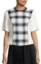 3.1 Phillip Lim Surf Plaid Paneled Top