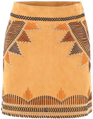 Alberta Ferretti Embroidered Mini Skirt