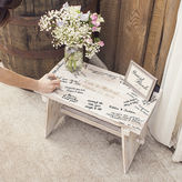 Cathy's Concepts CATHYS CONCEPTS Personalized Rustic Wooden Guestbook Bench