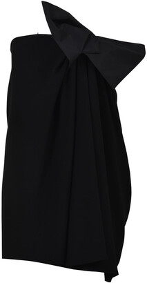 Saint Laurent Strapless Bow Mini Dress
