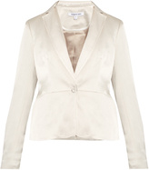 Elizabeth and James Rory single-breasted duchess-satin jacket