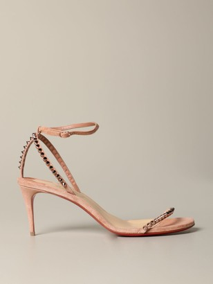 Christian Louboutin So-me Sandal In Suede With Studs