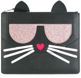 Karl Lagerfeld cat motif clutch
