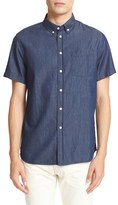 Saturdays Nyc Men's Esquina Slim Fit Denim Sport Shirt