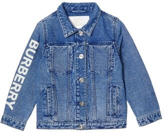 Burberry Stretch Cotton & Linen Denim Jacket